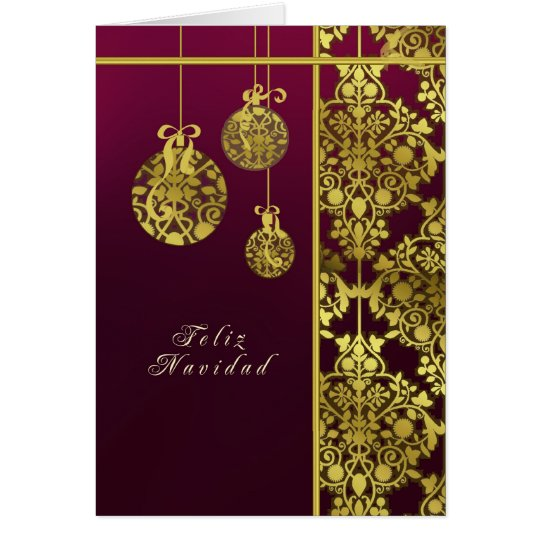spanish merry christmas card, elegant card