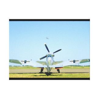 Spanish Messerschmitt ME 109, Rear_WWII Planes Canvas Print