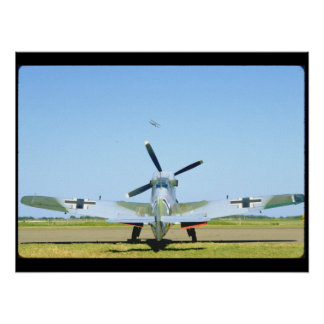Spanish Messerschmitt ME 109, Rear_WWII Planes Poster