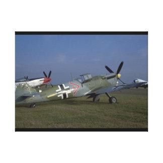 Spanish Messerschmitt ME 109,Right_WWII Planes Canvas Print