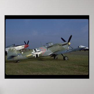 Spanish Messerschmitt ME 109,Right_WWII Planes Poster
