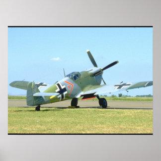 Spanish Messerschmitt ME 109_WWII Planes Poster