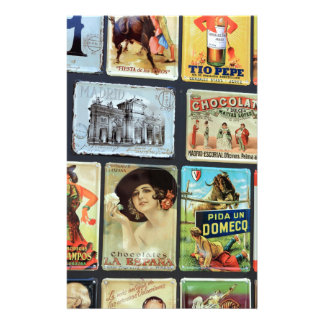 Spanish metal plaques stationery