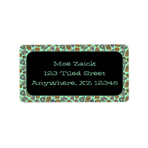 Spanish & Mexican Tile Mosaic Address Label