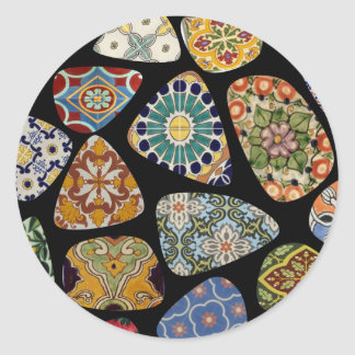 Spanish & Mexican Tile Mosaic Classic Round Sticker