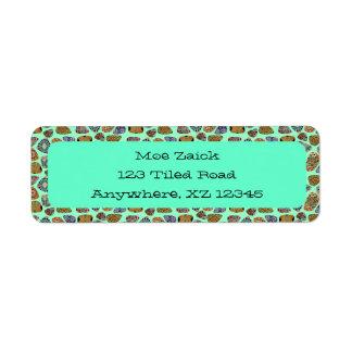 Spanish & Mexican Tile Mosaic Return Address Label