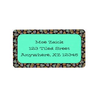 Spanish & Mexican Tile Mosaic Custom Address Labels