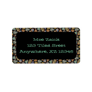 Spanish & Mexican Tile Mosaic Label