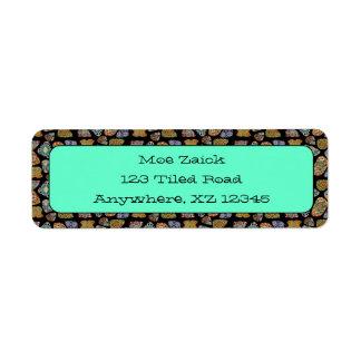 Spanish & Mexican Tile Mosaic Custom Return Address Labels