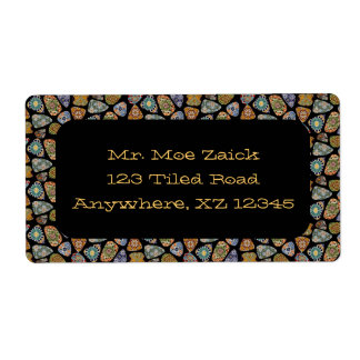 Spanish & Mexican Tile Mosaic Personalized Shipping Labels