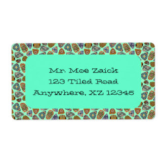 Spanish & Mexican Tile Mosaic Custom Shipping Label