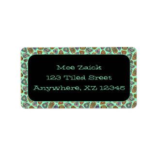 Spanish & Mexican Tile Mosaic Custom Address Label
