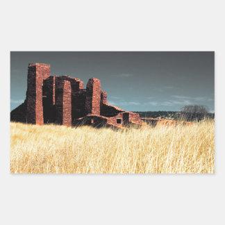 Spanish Mission Church Ruins Rectangular Sticker