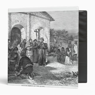 Spanish Mission of the Alamo 3 Ring Binder
