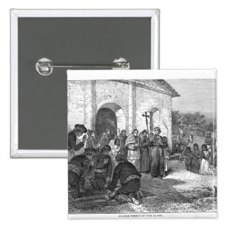 Spanish Mission of the Alamo Pinback Button