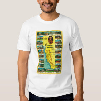 Spanish Missions of California showing T-shirts