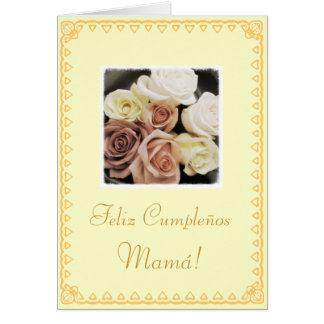 Spanish: Mom's birthday Cumpleanos / Mama Card