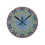 Spanish Mosaic Round Clock