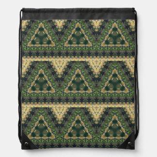 Spanish Moss Abstract Drawstring Bag
