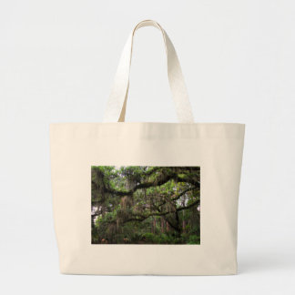 Spanish Moss Adorned Live Oak Large Tote Bag