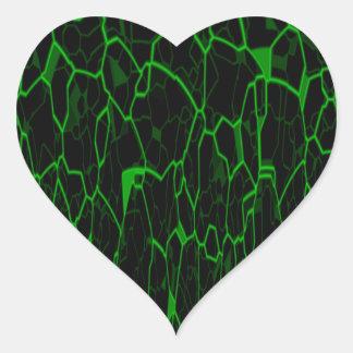 Spanish Moss Heart Sticker