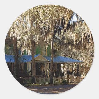 Spanish Moss, Micanopy, Florida Classic Round Sticker