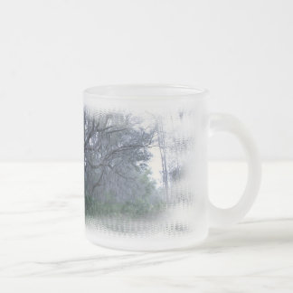 Spanish Moss on Oak Trees Frosted Cup 10 Oz Frosted Glass Coffee Mug
