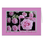 Spanish Mother's day card pink rose bouquet3