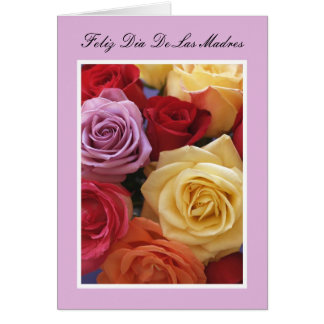 Spanish Mother's Day Card -- Roses