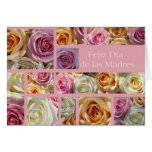 spanish mother's day pastel rose collage greeting card