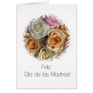 spanish mother's day pastel roses card