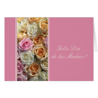 spanish mother's day pastel roses greeting card