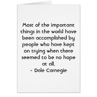Spanish Motivation - Dale Carnegie Greeting Card