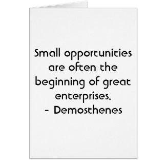 Spanish Motivation - Demosthenes Card