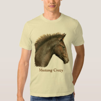 Spanish Mustang Crazy Horse-Lover T-Shirt