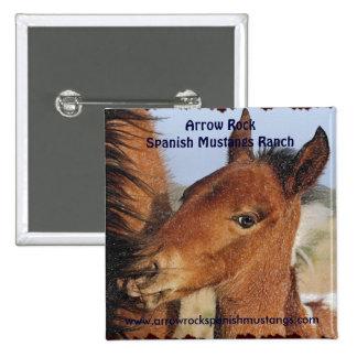Spanish Mustang Foal Button