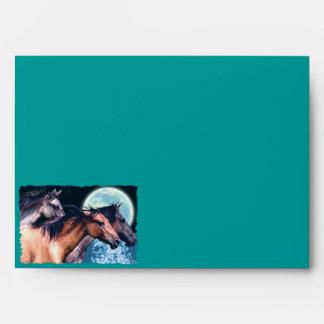 Spanish Mustang Horse Art Greeting Card Envelope