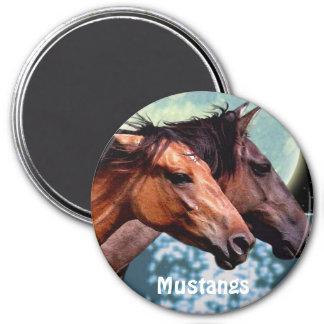 Spanish Mustang Horses Equine Art Magnet