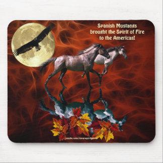 Spanish Mustang Stallion Horses Fractal  Mousepad