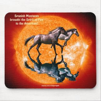 Spanish Mustang Stallion Horses Sun Mousepad