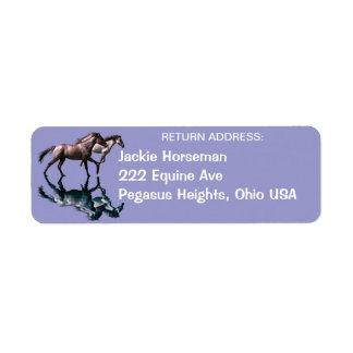 Spanish Mustangs Equine Return Address Labels