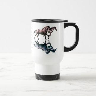 Spanish Mustangs Horses Conservation Travel Mug