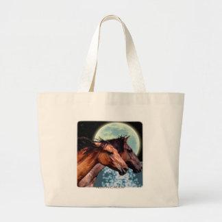Spanish Mustangs & Moon Tote Bag