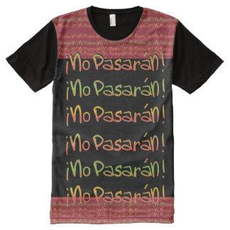 Spanish No Pasaran Pattern T-Shirt All-Over Print T-shirt