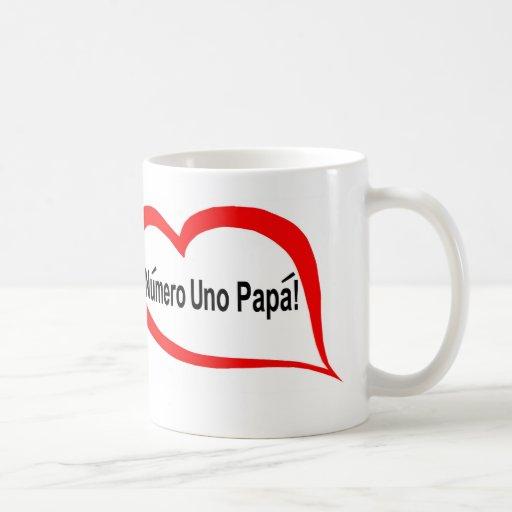 Spanish numero uno papa coffee mug