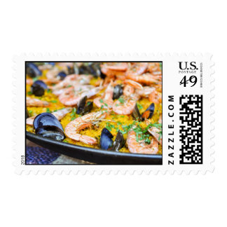 Spanish Paella Postage Stamps