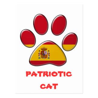 Spanish patriotic cat postcard