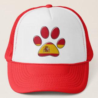 Spanish patriotic cat trucker hat