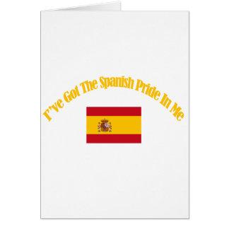 spanish patriotic flag designs card
