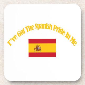 spanish patriotic flag designs drink coasters